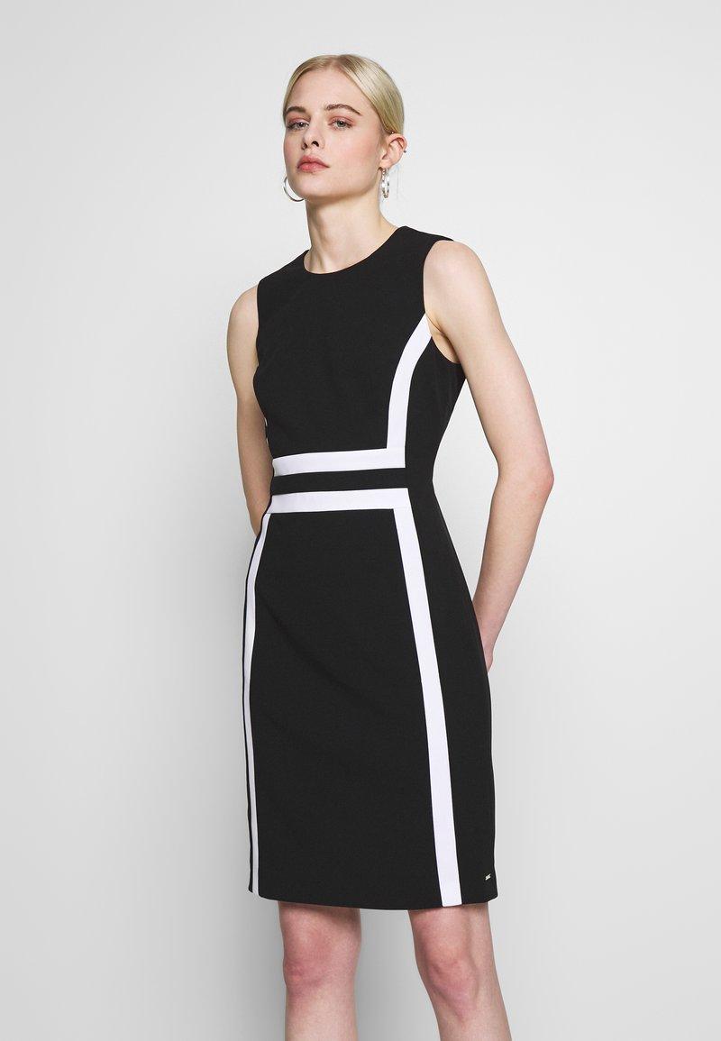 Calvin Klein - CONTRAST PANEL DRESS NS - Day dress - black