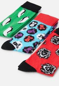 Jack & Jones - JACANGUS SOCK 5 PACK - Socks - red/blue/black - 1