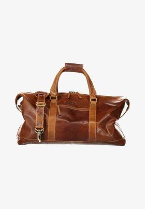 Weekend bag - cognac plain