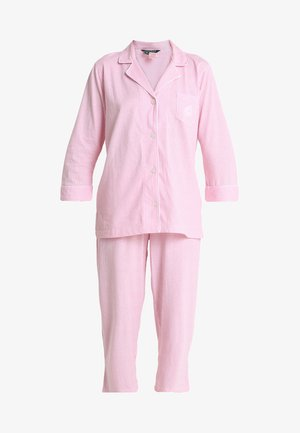 HERITAGE 3/4 SLEEVE CLASSIC NOTCH COLLAR SET - Pyjama set - pale pink/white