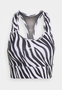 ICONCLASH BRA - Medium support sports bra - black/purple chalk/white