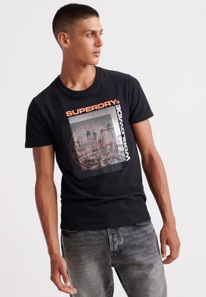 TICKET TYPE CITY - T-shirt con stampa - black