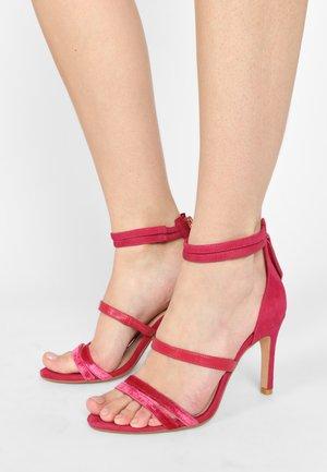 CURTAIN  - High heeled sandals - fuchsia