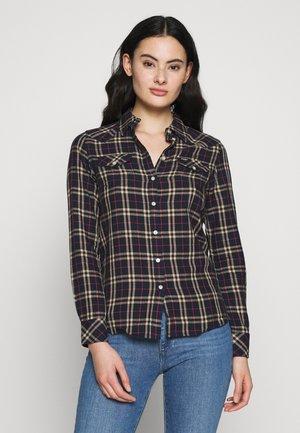 REGULAR WESTERN - Button-down blouse - navy