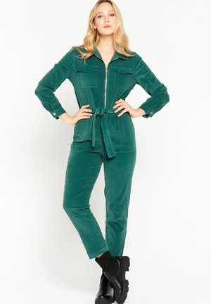 LONG SLEEVE  WITH ZIP - Jumpsuit - dark green