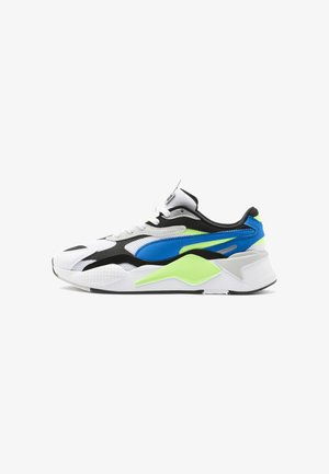 RS-X³ PUZZLE SOFT - Trainers - white-electric blue lemonade
