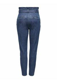 ONLY - REGULAR FIT ONLPOPTRASH PAPERBAG - Straight leg jeans - dark blue denim - 6