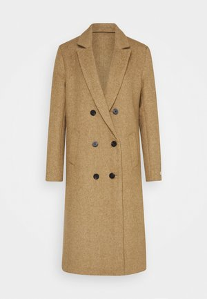 TAILORED DOUBLE BREASTED COAT - Mantel - sand melange