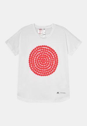 TEE UNISEX - Printtipaita - white/vivid red