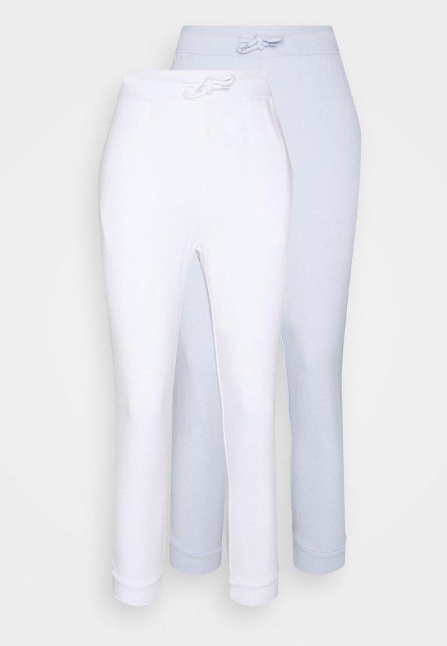 2 PACK - Trainingsbroek - white/light blue