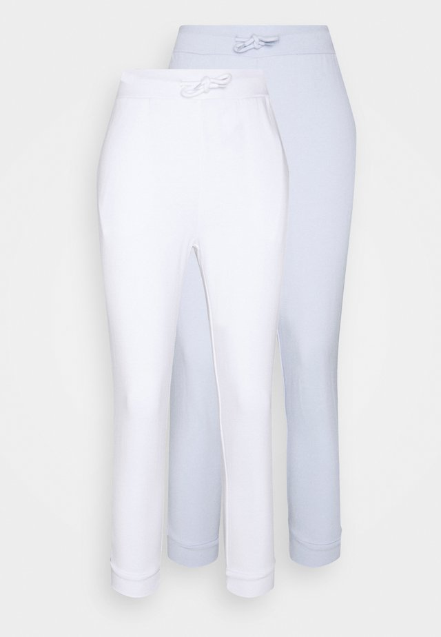 2 PACK - Joggebukse - white/light blue