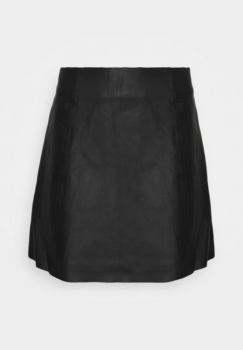 Selected Femme Petite - SLFIBI SKIRT  - Mini skirt - black