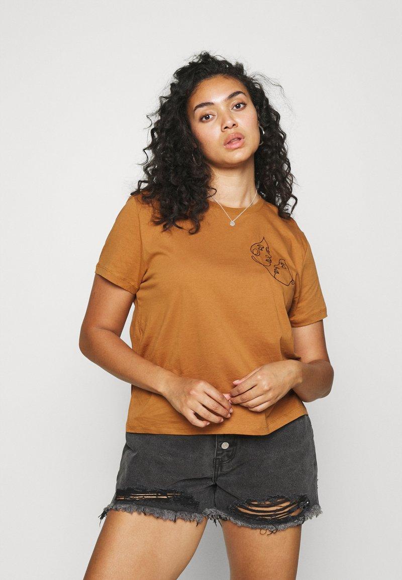 Even&Odd Curvy - Print T-shirt - brown
