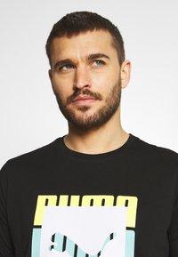 Puma - SUMMER COURT GRAPHIC TEE - Print T-shirt - black - 3