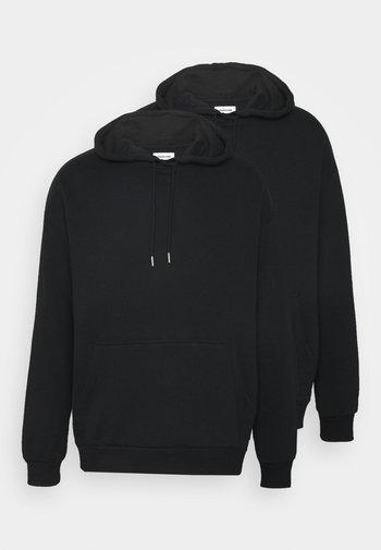2 PACK UNISEX - Hoodie - black
