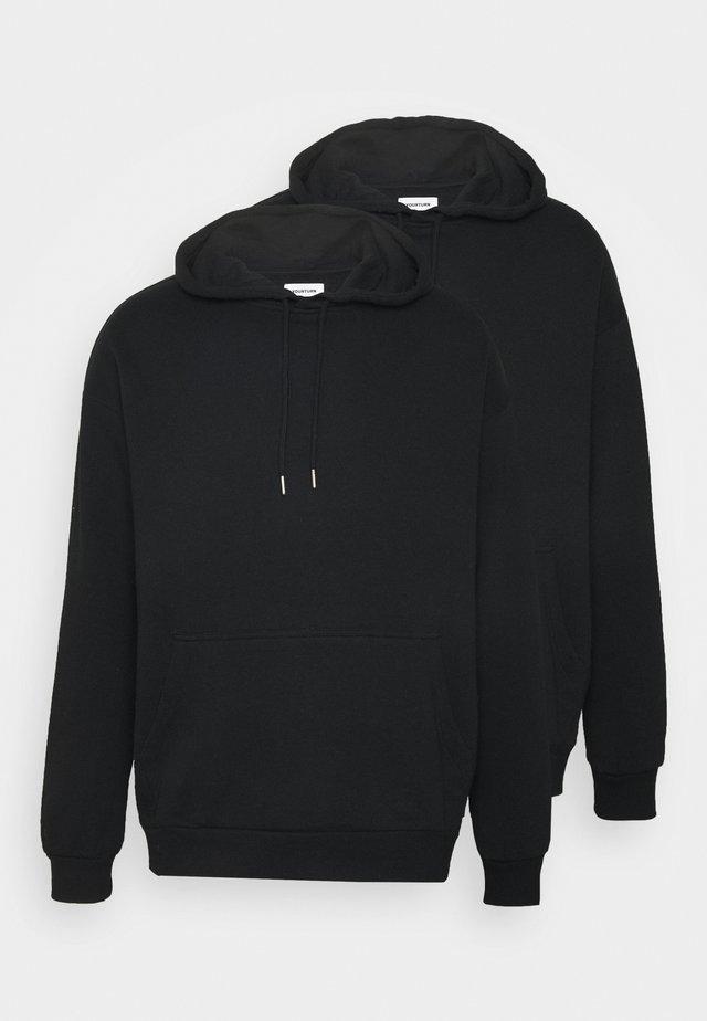 2 PACK UNISEX - Hættetrøjer - black
