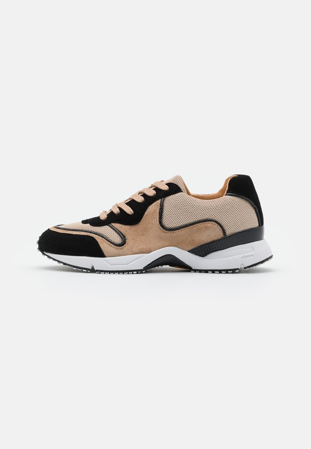 Sneakers - black/beige/gold