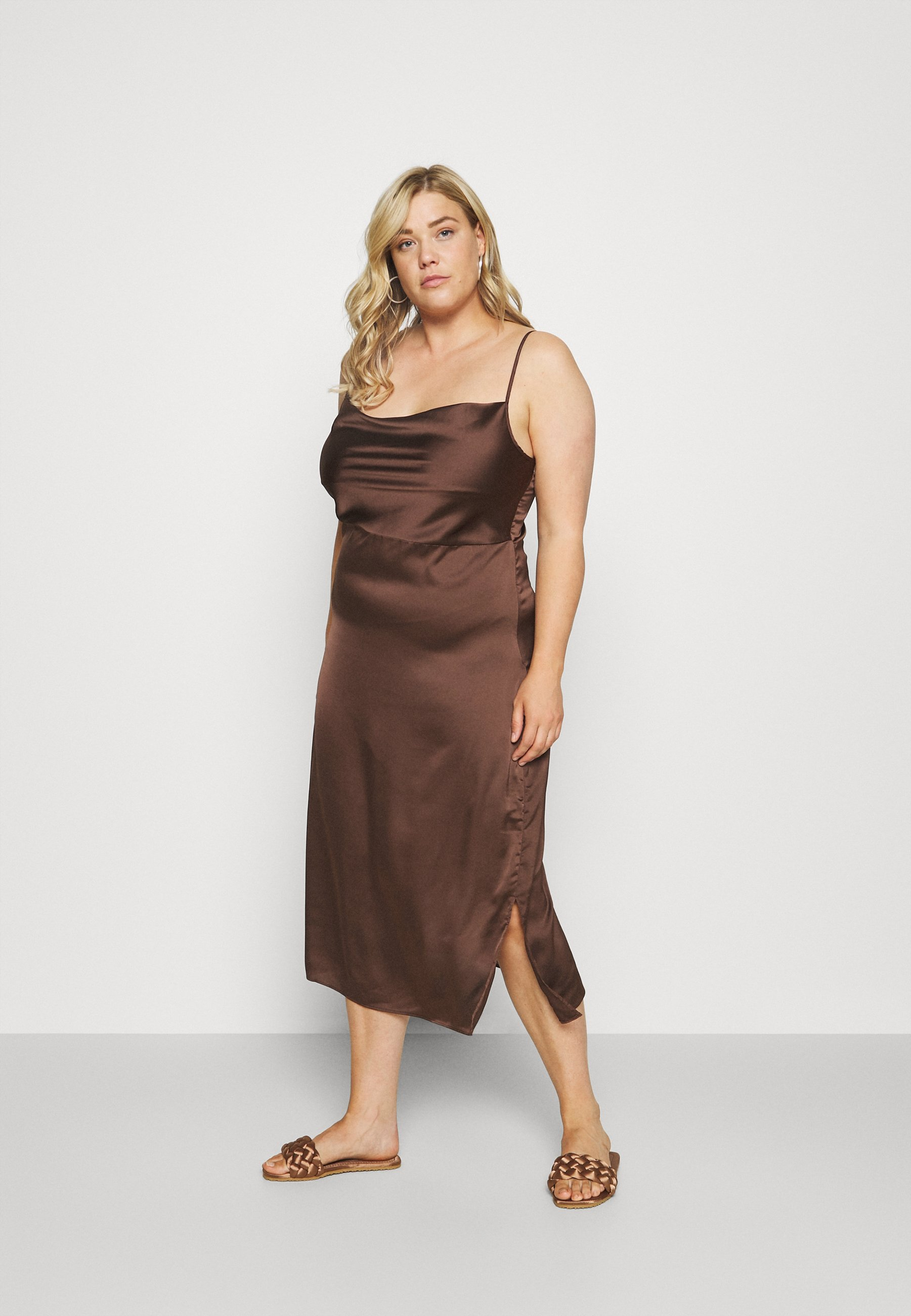 Women CAMI COWL SLIP MIDI DRESS - Day dress