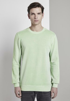 TOM TAILOR DENIM STRICK & SWEATSHIRTS SWEATSHIRT MIT LOGO-PRINT - Sweatshirt - soft neo green