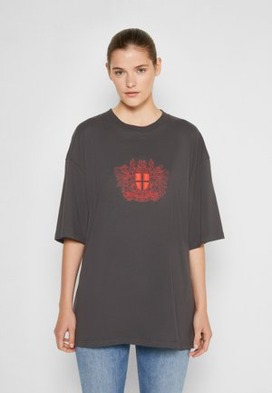BOYFRIEND TEE - Print T-shirt - faded black