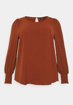 XHANNU DETAIL BLOUSE - Long sleeved top - fired brick