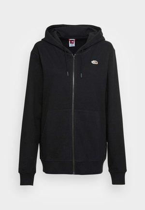 RECYCLED SCRAP GRAPHIC HOODIE - Zip-up sweatshirt - black
