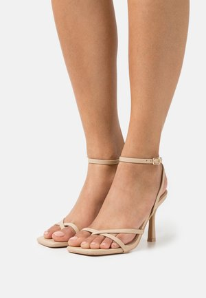 KELLIE - T-bar sandals - nude