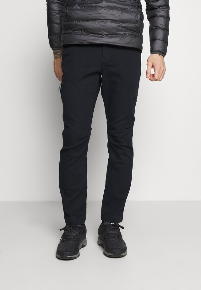 FLARE GUNWORK PANT - Spodnie materiałowe - black