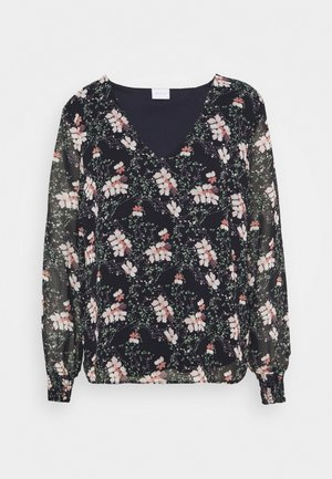 VINAHLA - Blouse - black/pink