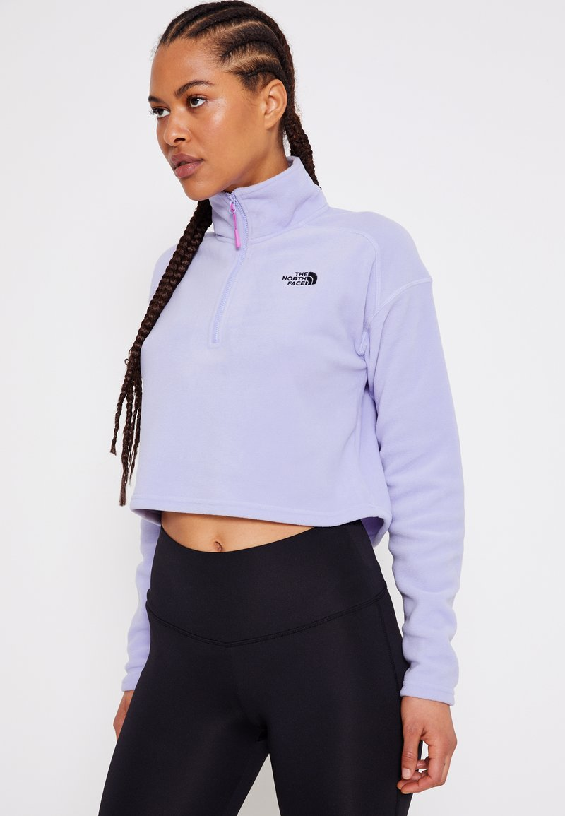 The North Face - GLACIER CROPPED ZIP - Fleecegenser - sweet lavender