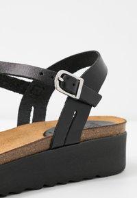 Grand Step Shoes - EDEN - Platform sandals - black - 2