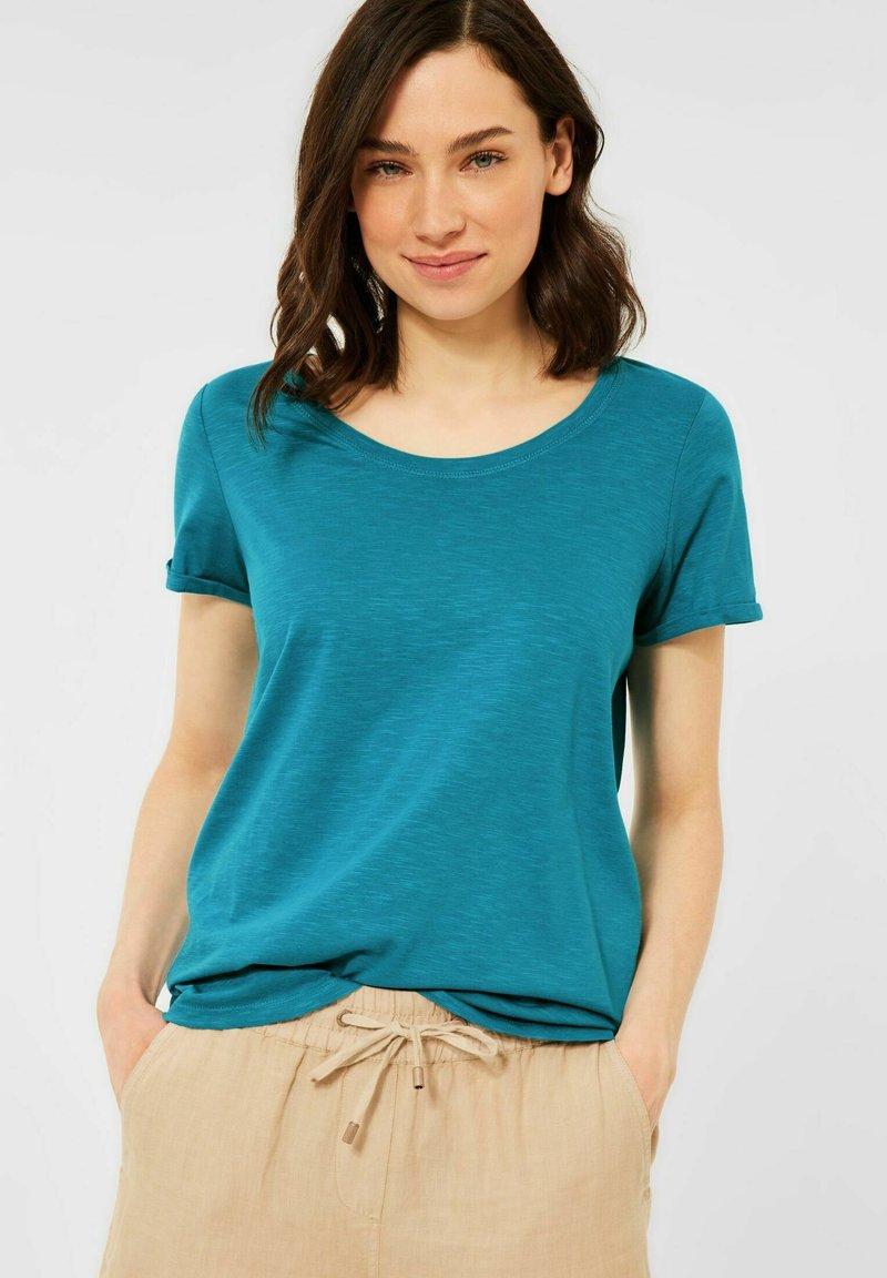 Cecil - BASIC STYLE - Basic T-shirt - blau