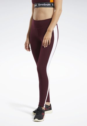 TRAINING ESSENTIALS LINEAR LOGO LEGGINGS - Trikoot - burgundy