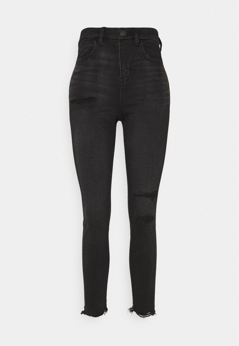 American Eagle - HI RISE - Jeans Skinny Fit - fade to black