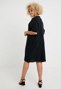 Live Unlimited London - MANDARIN COLLAR DRESS - Day dress - black - 2