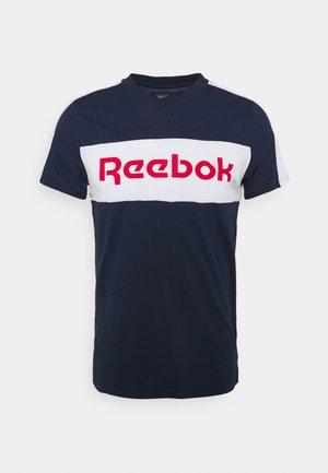 GRAPHIC TEE - Print T-shirt - vecnav/white