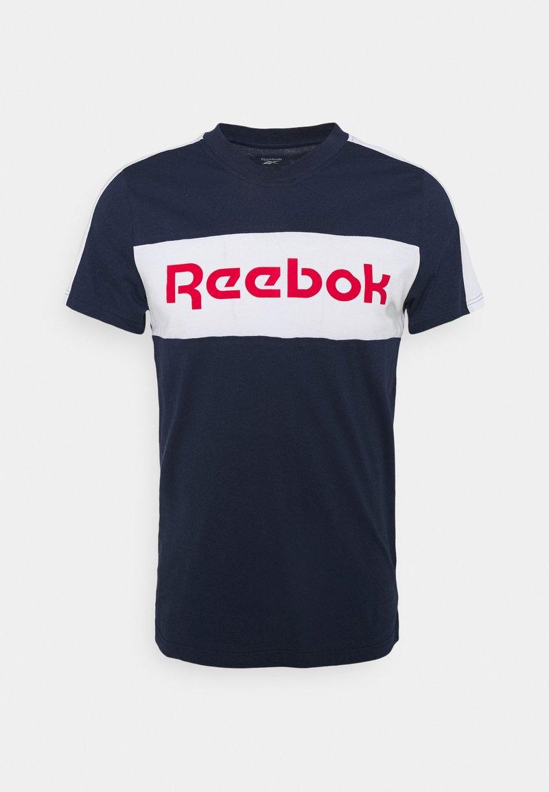 Reebok - GRAPHIC TEE - T-shirts print - vecnav/white