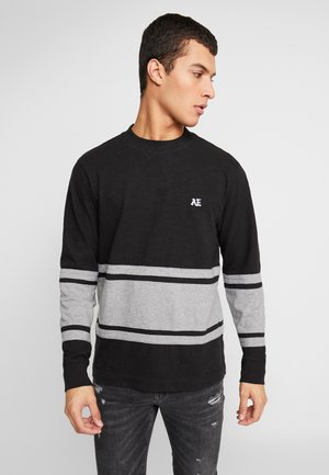 MOCK NECK PANEL - Bluzka z długim rękawem - bold black/medium grey