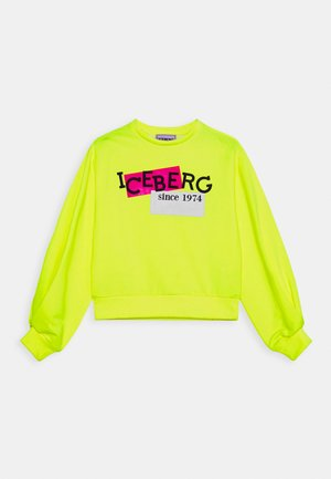 FELPA GIROCOLLO - Sweatshirt - giallo fluo