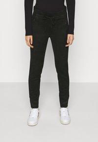 Opus - LEVINA SOFT - Trousers - black - 0