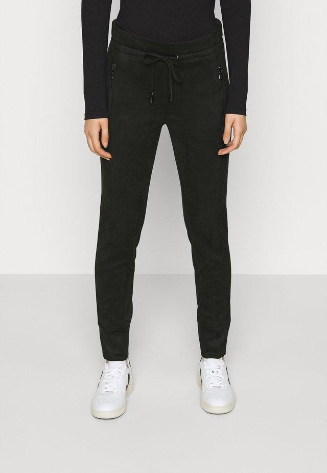 LEVINA SOFT - Trousers - black
