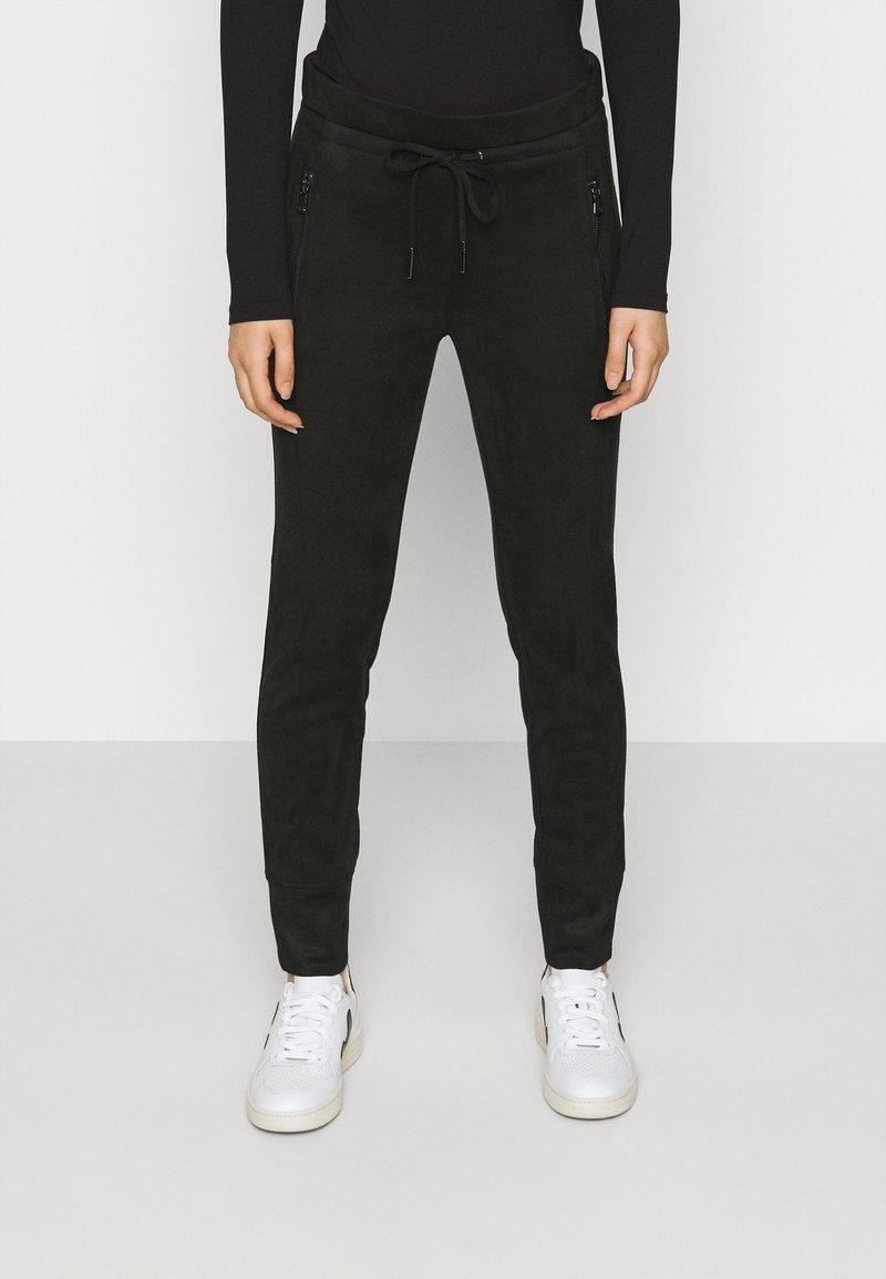 Opus - LEVINA SOFT - Trousers - black