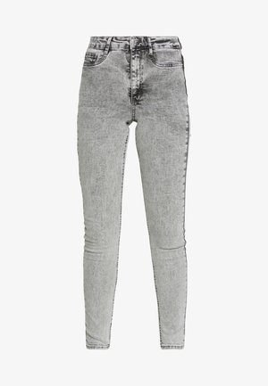 MOLLY HIGHWAIST - Vaqueros pitillo - grey snow