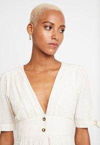 Vero Moda - VMMILA CALF DRESS - Shirt dress - snow white/oatmeal - 4