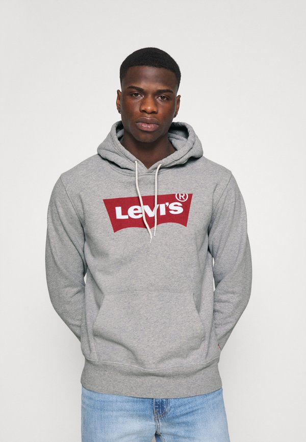 Levi's® GRAPHIC HOODIE - Bluza - heather gray/szary melanż Odzież Męska MVZL