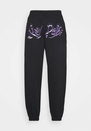 NEW DELHI GRAPHIC - Teplákové kalhoty - black
