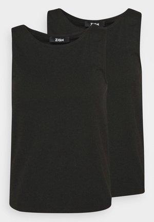 2 PACK - Top - black/black