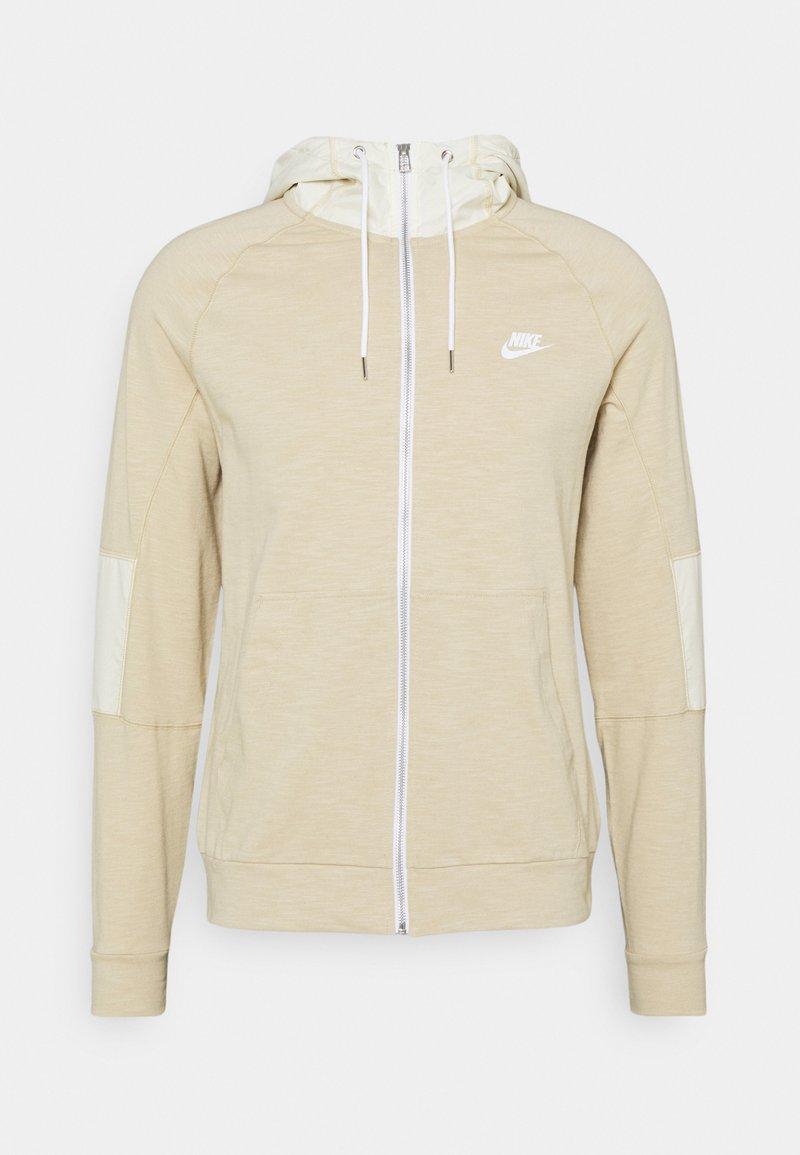Nike Sportswear - Zip-up hoodie - grain/coconut milk/ice silver