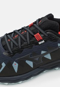 Mizuno - WAVE DAICHI 6 - Trail running shoes - india ink/black/ignition red - 5