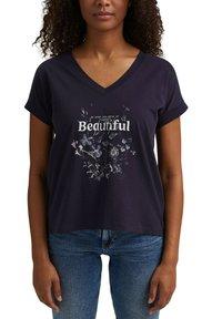edc by Esprit - Print T-shirt - navy - 6